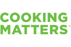 a green logo that reads cooking matters