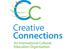 creative connections logo in green and blue
