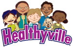 healthyville logo with group of children
